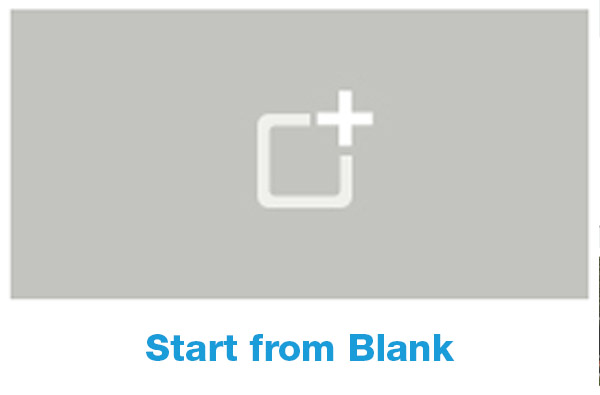 Start from Blank