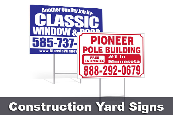 Construction Yard Signs