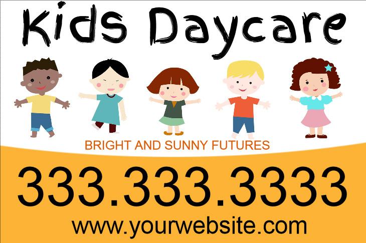 DayCare Yard Sign Template