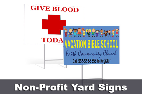 Non Profit Organization Yard Signs
