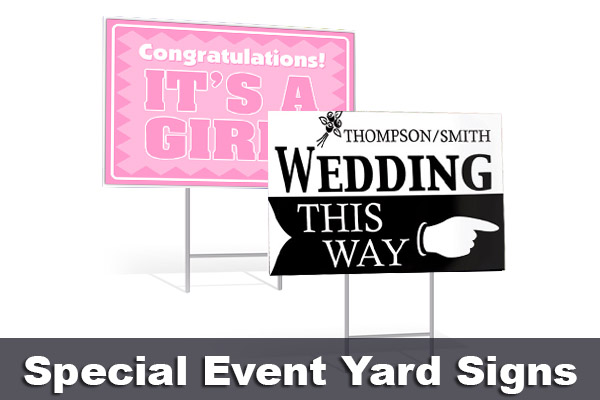 Special Event Yard Signs